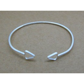 Sterling Silver Bangle with Triangle