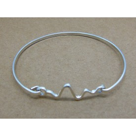 Sterling Silver Zig Zag Bangle