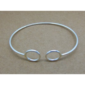 Sterling Silver Bangle with Circles