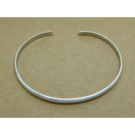 Sterling Silver Domed Bangle