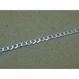 Sterling Silver Medium Weight Curb Ladies Bracelet