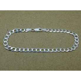 Sterling Silver Medium Weight Curb Ladies Bracelet