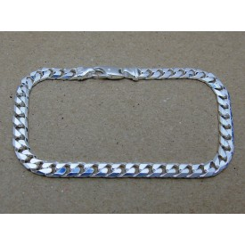 Sterling Silver Heavy Weight Curb Gents Bracelet