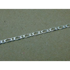Sterling Silver Fancy Figaro Bracelet