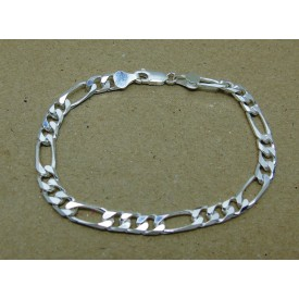 Sterling Silver Heavy Weight Figaro Bracelet