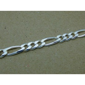 Sterling Silver Heavy Weight Gents Figaro Bracelet
