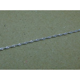 Sterling Silver Light Weight Singapore Bracelet