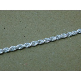 Sterling Silver Ladies Rope Bracelet