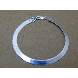 Sterling Silver 5mm Herringbone Bracelet