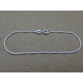 Sterling Silver Beaded Snake Bracelet