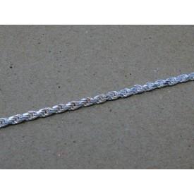Sterling Silver Solid Rope Bracelet