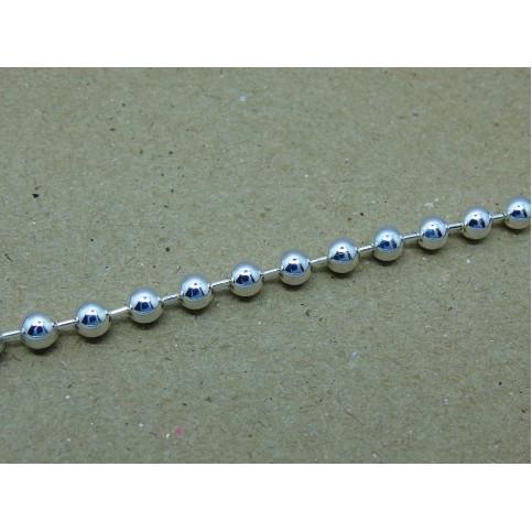 Sterling Silver 5mm Bead Bracelet