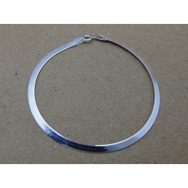Sterling Silver 3mm Herringbone Bracelet