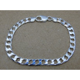 Sterling Silver Heavy Square Curb Bracelet