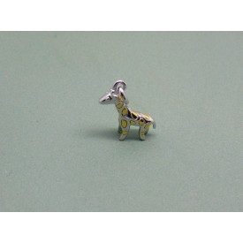 Sterling Silver Two Tone Giraffe Charm