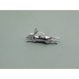Sterling Silver Leaping Hare Charm