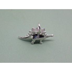 Sterling Silver Stegosaurus Charm