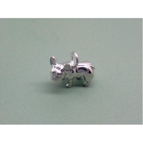 Sterling Silver French Bulldog Charm