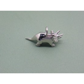 Sterling Silver Triceratops Charm