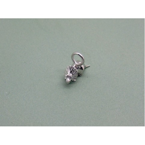 Sterling Silver Baby Triceratops Charm
