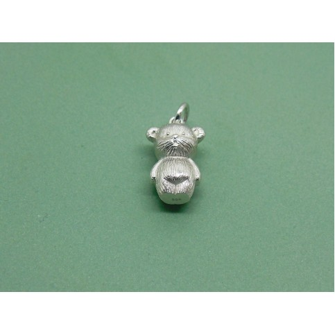 Sterling Silver Solid Teddy Charm