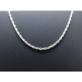 Sterling Silver Medium Singapore Chain