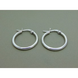Sterling Silver Hinged 20mm Creoles