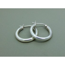 Sterling Silver Hinged Creoles 20mm