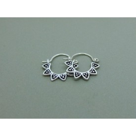 Sterling Silver Creole Flower Petal Design