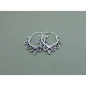 Sterling Silver Filagree Creoles