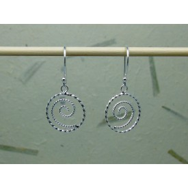 Sterling Silver Twisted Swirl Drops