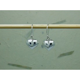 Sterling Silver Bulbous Heart Drops