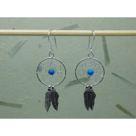 Sterling Silver Dream Catcher Earrings