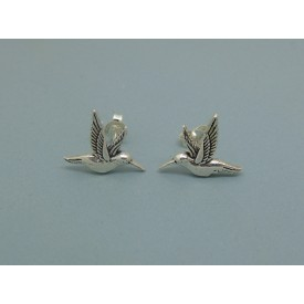 Sterling Silver Kingfisher Studs