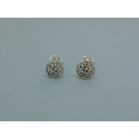 Sterling Silver Spiders Web Studs