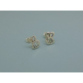 Sterling Silver Bumble Bee Studs