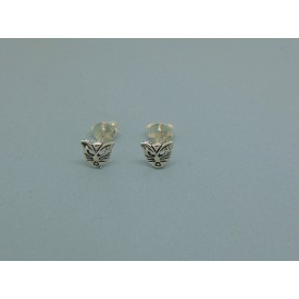 Sterling Silver Cat Face Studs