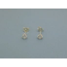 Sterling Silver 4.5mm Cubic Zirconia Studs