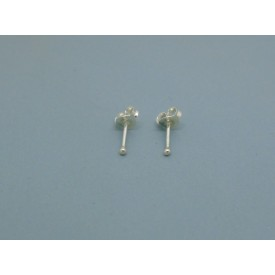 Sterling Silver Ball Studs - 1.5mm
