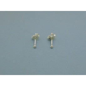 Sterling Silver Ball Studs - 2mm