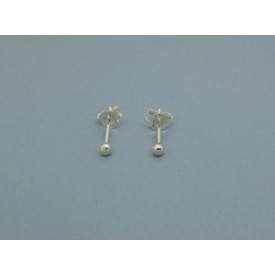 Sterling Silver Ball Studs - 2.5mm