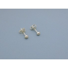 Sterling Silver Ball Studs - 3mm