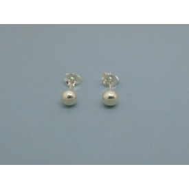 Sterling Silver Ball Studs - 5mm