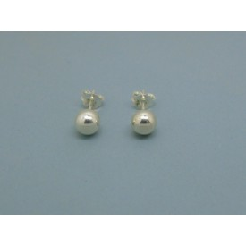Sterling Silver Ball Studs - 6mm