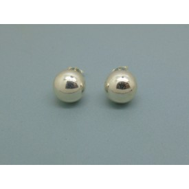 Sterling Silver Ball Studs - 10mm
