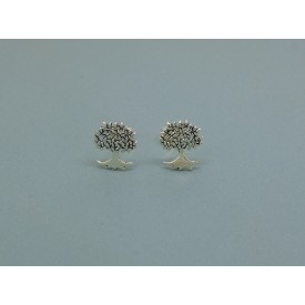 925 Sterling Silver Tree of Life Studs