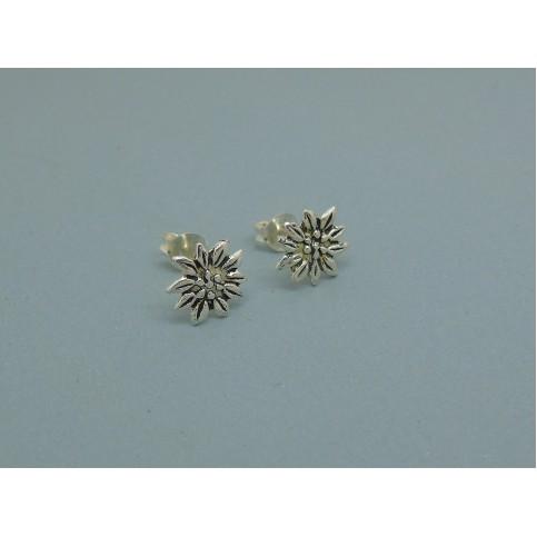 Flower Studs in Sterling Silver