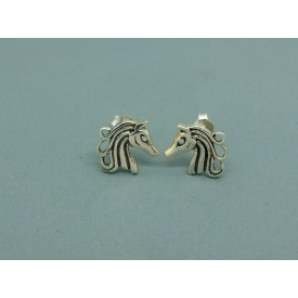 Sterling Silver Horse Head Studs
