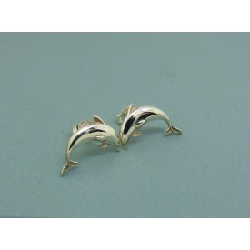 Sterling Silver Dolphin Studs