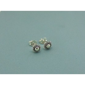 Sterling Silver Beaded Stud